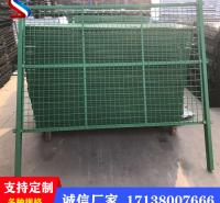 涪城热卖边框护栏网双边框架护栏网绿色铁丝网围栏高速公路护栏