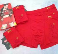 厂家直销本命年大红色纯棉男士内裤