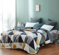 牛奶绒绗缝水洗被三四件套 床盖式双人空调被床上用品