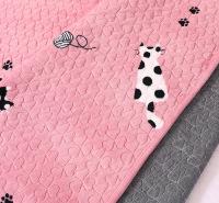 水洗印花床上用品三四件套现代简约绗缝水洗被