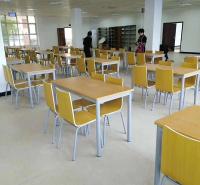 食堂连体餐桌椅 小学生 中学生 大学餐桌椅 食堂餐桌椅