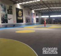 沈阳球场地坪漆 学校操场运动地面施工经验 德卡地坪