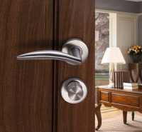 不锈钢门锁 静音防撬卫生间门插芯执手门锁911.83.351