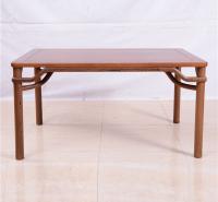厂家直销全实木餐桌 新中式多功能简约实木长方桌