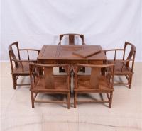 128茶桌圆南宫椅六件套
