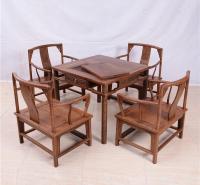 86茶桌圆南宫椅五件套