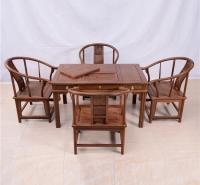 128茶桌圈椅五件套