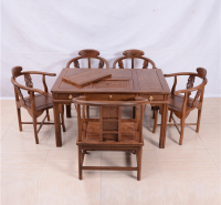 128茶桌圈椅三角椅六件套