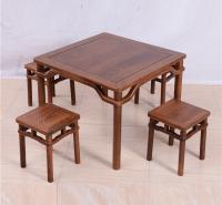 小方桌圆脚方凳五件套