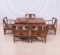 145茶桌圆南宫椅六件套