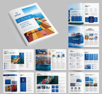 山东济南企业画册设计 精装画册设计印刷  画册印刷厂家