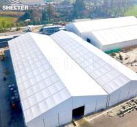 赛尔特人字顶仓储篷房 大跨度中间无立柱篷房 产品可定制可出口
