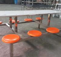 食堂四座 六座 八座餐桌椅 学校餐厅餐桌 食堂餐桌订做
