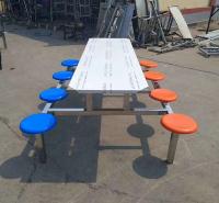 学校餐厅餐桌 食堂一体餐桌 员工 学校 公司食堂餐桌椅