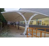 景观棚膜结构工程景区张拉膜大型膜结构体育看台学校操场看台