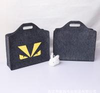 毛毡手提包笔记本电脑包苹果电脑包可定制创意卡通毛毡手提手提包