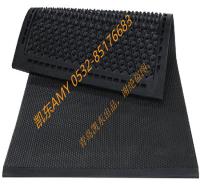 牛卧床防滑耐磨橡胶垫  凯东供应牛马用橡胶垫  复合型软牛床垫 龟背纹牛舍通道垫