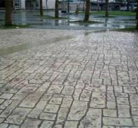 娄底 压模道路 彩色艺术地坪 水泥压花模具 印花地面厂家 普林德建材