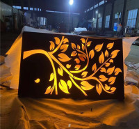 耐候钢灯箱制作 红锈钢板树池 按图纸定做 切割镂空