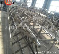 明垚定制304不锈钢高效节能薄膜蒸发器 10平方薄膜离心刮板蒸发器