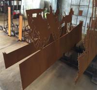 考登板Q235NH 耐候钢园林造型 外墙设施幕墙钢板 来图切割