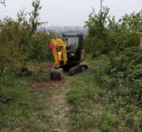微型迷你园林挖土小挖机勾电动微挖挖机绿工挖掘机