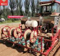 雪豹定制 270型 蔬菜旋耕起3垄施肥打药铺管播种一体机
