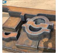 Q345B低合金钢板500mm超厚板等离子火焰切割下料配重块厂家直供