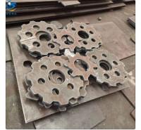 标之龙金属Q345D特厚低合金切割加工400mm保探伤零割长条油缸方块