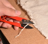 十字绣u型剪价格 轻纱剪刀 剪把浸塑处理.手感更加舒适