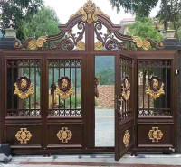 铝艺大门 别墅大门定做铝合金庭院农村院子门折叠门双开厂家
