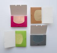 绿茶香氛颗粒吸油纸 让肌肤变得清爽 大小和张数可定制