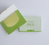 绿茶香氛颗粒吸油纸 采用原生木浆纤维制成 纸质柔韧
