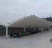 安装膜结构自行车雨棚 郑州停车场充电桩棚厂家 结实耐用 品质厂家