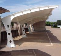 户外膜结构停车篷 郑州停车场充电桩棚厂家 免费设计 品质可靠