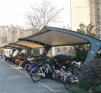 定做膜结构汽车公交车站停车棚 郑州电动车充电雨棚 厂家直销 品质可靠