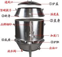 木炭商用烧鹅手撕鸭五花肉烤箱立式大型双层烤肉炉