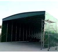 定做折叠伸缩雨篷移动推拉蓬仓储物流棚电动推拉棚