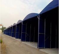 工厂电动推拉篷仓库活动棚移动推拉蓬户外收缩折叠遮阳雨篷伸缩棚
