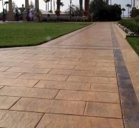 压模地坪 彩色压模路面 水泥压印 彩色压模地坪材料 压花地坪原料 压模地坪生产厂家