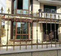 铁艺焊接护栏 东昇小区防盗围墙护栏 方管焊接栏杆
