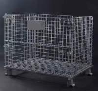 仓储笼 折叠铁框 钢丝仓储笼 蝴蝶笼 仓库收纳工业物料铁筐