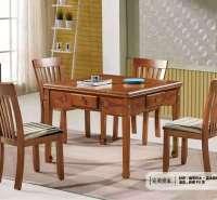 全自动折叠麻将机家用餐桌两用自动麻将桌实木静音取暖麻将过山车