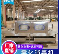 进口冷链鱼肉消毒机 全自动冷链海鲜消毒机 雾化型进口肉制品包装盒消毒机 赫亿特定制