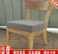 山东实木家具 快餐家具定制 实木餐椅 餐饮桌椅定制 众鑫家具