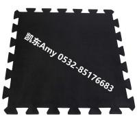 EPDM健身房地垫  青岛凯东厂家供应健身房地砖 可拼接健身房地板  耐用减噪健身房地垫