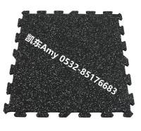 EPDM健身房地垫  青岛凯东厂家供应健身房地砖 耐用减噪健身房地垫 可拼接健身房地板