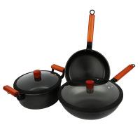不粘锅 不粘炒锅 无涂层三件套锅 供应锅具套装