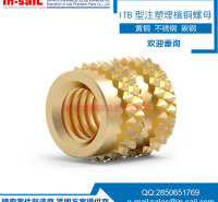 In-saiL 盲孔设计 注塑环保埋植铜螺母 质量保证 深圳自动车床专业生产