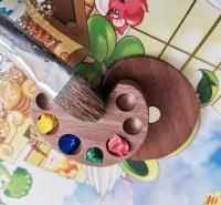 胡桃木颜料盒 多功能盒子 木质颜料盒定制